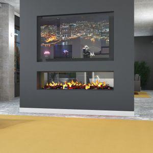 muenkel design e-tunnel PRO wood 1100 [Opti-myst Elektrokamineinsatz]: Wasserleitung - Ohne Glasscheibe - Ohne Heizung