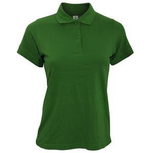 B&C Safran Damen Poloshirt, Kurzarm BC104 (2XL) (Flaschengrün)