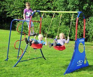 Hudora Spielplatz / Schaukel - und Klettergestell 300x210x230cm