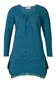Sheego Damen Kleid mit Spitze, petrol, Größe:42