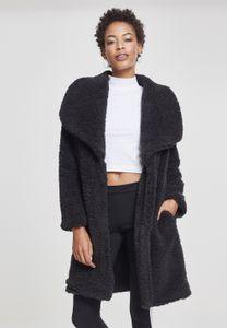 Urban Classics Damen Jacke Ladies Soft Sherpa Coat Black-5XL