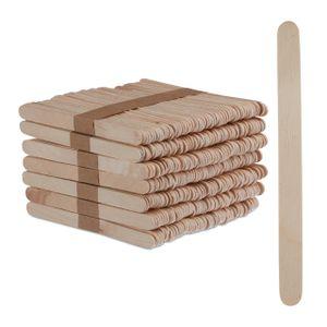 relaxdays Eisstiele aus Holz 500 Stück