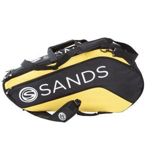 Sands 3317 Tennistasche Schlägertasche Sporttasche Rucksack bis zu 6 Schläger Tennis