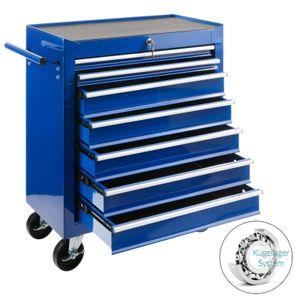 Arebos Werkstattwagen Werkzeugwagen Werkzeug Rollwagen 7 Fächer blau - direkt vom Hersteller