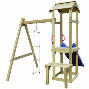 Spielturm mit Rutsche und Leiter 228×168×218 cm Holz