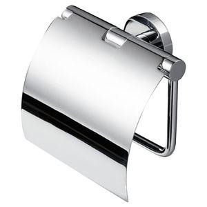 Toilettenpapierhalter Deckel Klopapier-Rollenhalter WC-Papierhalter chrom GEESA