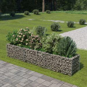 Gabionen-Hochbeet Garten-Hochbeet Hochbeet Verzinkter Stahl 270×50×50 cm