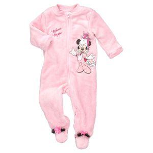 Disney Baby Mädchen Minnie Mouse Fleece Strampler Schlafanzug Einhorn rosa 86 (12-18 Monate)