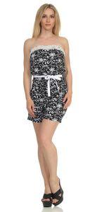 Damen Jumpsuits Bandeau Overall mit Taschen Gr. S M L XL