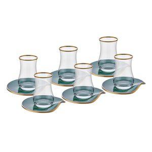 Neva Mentol Plus 12-teiliges Tee-Set I Türkische Teegläser