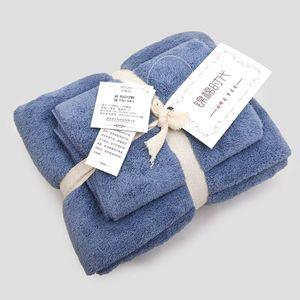 2 Stück Tuch aus Mikrofaser Stoff Handtuch Set Plüsch Bade Gesicht Hand Quick Dry Handtücher -(9,75x150cm und 34x85cm)