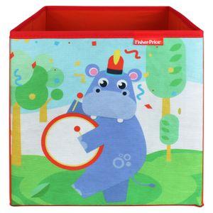 Fisher-Price Faltbox 30x30cm - Aufbewahrungsbox - Spielzeugkiste - Spielzeugtruhe - Hippo