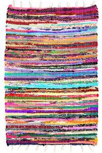 Teppich Morgenland Kelim Fleckerl Flicken Kurz Baumwolle Bunt Webteppich Flur, Größe:180 x 120 cm Rechteckig, Farbe:Mehrfarbig