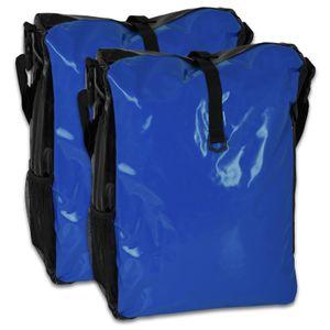 Fahrradtasche 2 Stück - (LKW-Plane) - blau/schwarz