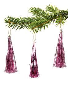 10 Lamettini Rosa Lametta Anhänger Weihnachtsanhänger