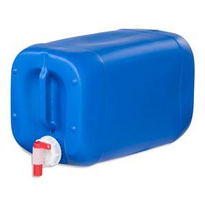 25 Liter Kanister Camping Wasserkanister Farbe blau +  Auslaufhahn