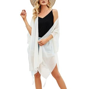 Damen Sommer Oversized Cardigan Open Front Kimono Capes Strandurlaub Cover ups