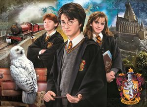 Clementoni 61882 Harry Potter Brief Case 1000 Teile Puzzle im Koffer