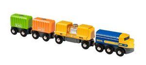 BRIO Vrachttrein met drie wagons - 33982