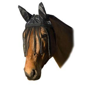 USG Fliegenhaube mit Ohrenschutz und Fransenband - schwarz Vollblut