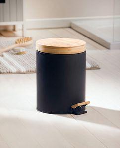 Treteimer 'Bambus' Küche Ordnung sauber , edle Optik, Bambus, Absenkautomatik