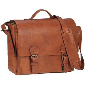Ruitertassen Aktentasche Leder 2 Fächer 40cm Lehrertasche Schultasche Businesstasche Büchertasche 4003-77