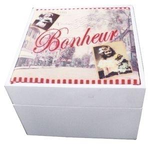 Holzbox Lilou Romantikmotiv MDF Weiß