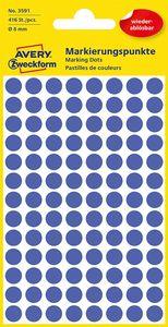 AVERY Zweckform Markierungspunkte ablösbar 8 mm blau 416 Stück