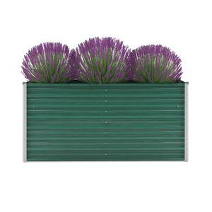 Garten-Hochbeet Verzinkter Stahl 160x40x77 cm Grün