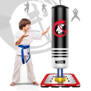 Dripex Boxsack Kinder Freistehender Standboxsack Boxpartner Boxing Trainer Punching Bag (Schwarz)