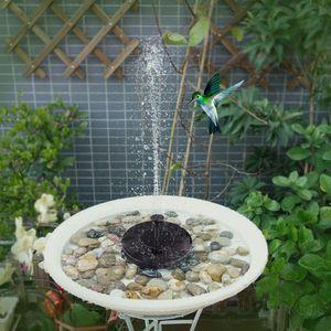 Solar Springbrunnen, Solar Vogelbad Brunnenpumpe, Solarbrunnen mit 4 Düsen, freistehende schwimmende solarbetriebene Wasserbrunnenpumpe für Vogelbad, Garten, Teich, Pool, Außenbereich