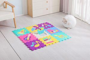 Avior Kids Kinder Puzzlematte Kinderteppich Spiel-Teppich Spielmatte 9-TLG Instrument mehrfarbig