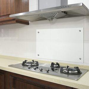 Bc-elec - AKG06-10050 Küchencredenza aus Klarglas 100x50cm, gehärtetes Sicherheitsglas 6mm, Haubenboden