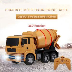 HUINA 1333 1:18 2,4G Betonmischer Engineering Lkw Leichte Baufahrzeug Spielzeug fš¹r Kinder