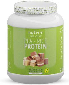 Sojafreies PROTEINPULVER - Pea Rice 1kg - Veganes Eiweißpulver sojafrei - Protein ohne Soja, Gluten & Lactose - Eiweiß Pulver Vegan - In Deutschland hergestellt - Nougat