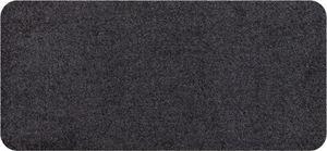 Salonloewe Mini Fußmatte Wohnmatte Anthrazit ohne Rand 30 x 60 cm einfarbig