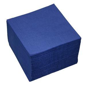100 Servietten 2-lagig ca. 24x24cm dunkel-blau
