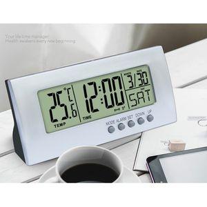 Digitaler LED Wecker Tischwecker Tischuhr mit Temperatur, Datum und Schlummerfunktion