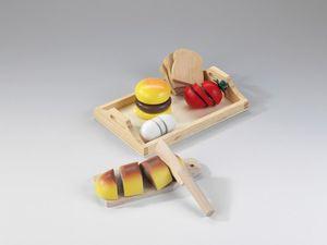 Holztablett & Holzmahlzeit Set (Spielzeug)