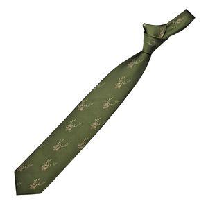 Skogen Jagd-Krawatte oliv Hirschgeweih, Einheitsgroesse:one size