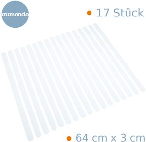 17 Anti-Rutsch Streifen für Treppen transparent und selbstklebend Treppenstufen