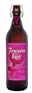 Frauen Bier - 1 Liter Flasche mit Bügelverschluss