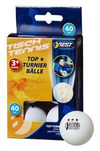 Tischtennisball / Turnierball weiß 3-Sterne 6Stück