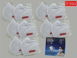 20X Antiviron Mund-Nasenschutz Mundschutzmaske Nano Silver Wiederverwendbar Maske antibakteriell 3 lagig Mundschutz Blitzversand Versand aus Herzebrock