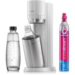 SodaStream Duo Trinkwassersprudler, Weiß,  inkl. 1x 1 Liter Glasflasche, 1x 1 Liter PET, 1 x Quick Connect Zylinder