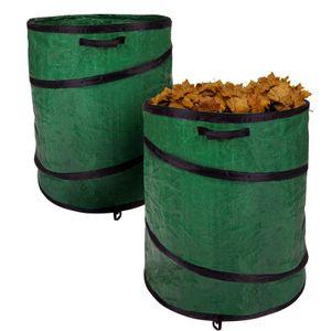 Gartensack Gartenabfallsack Laubsack Laubbehälter Garten Abfallbehälter 2er Set