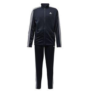 adidas Jogginganzug Herren im 3 Streifen Design Athletics Tiro Blau, Größe:M, Farbe:Blau