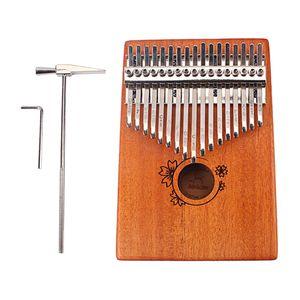 Kalimba Daumenklavier 17 Schlüssel Daumen-Klavier mit Stimmhammer, Holz Finger-Klavier für Kinder Erwachsene Anfänger