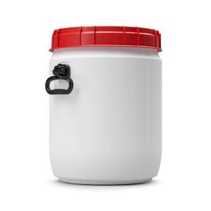 34 Liter Weithalsfass Tonne Drehdeckelfass Schraubdeckelfass weiß (34CT SW)