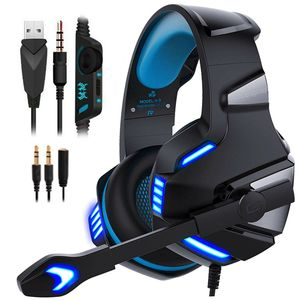 3.5mm Gaming Kopfhörer mit Mikrofon V3B LED Headset für PC Laptop PS4 Xbox One